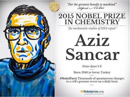 """NOBEL """"TÜRK""""E DE VERİLEBİLİYORMUŞ.. Nobel Kimya Ödülü'nü kazanan Prof.Dr. Aziz SANCAR'ı kutlamak ne kelime, SELAMLIYORUM..  """"VATANIM VE MİLLETİM BANA ÇOK KIYMETLİ BİR EĞİTİM VERDİ.. BU ÖDÜLÜ BUNA BORÇLUYUM"""" diyen hocamız gerçek bir TÜRK MİLLİYETÇİSİ.. Politik manevra ve pozisyon almayla gelen NOBEL gibi değil bu, kıymetli, çok kıymetli..  Canım Medyamın, Aziz hocanın bu başarısını, TÜRK MİLLİYETÇİSİ kimliği yerine akrabası Mithat Sancar ile irtibatlandırarak kullanması ise evlere şenlik bir durum..  TEBRİKLER HOCAM.. ELLERİNİZDEN ÖPÜYORUM.."""